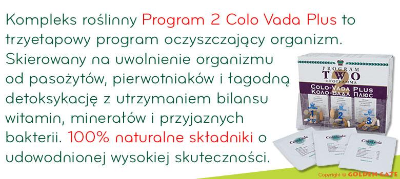 Program 2 Colovada Plus oczyszczanie oczyszczenie organizmu z toksyn, pasożytów, pierwotniaków