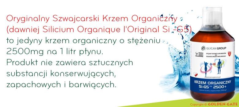 Oryginalny Szwajcarski Krzem Organiczny Silicium Organique l'Original Si-G5 2500mg
