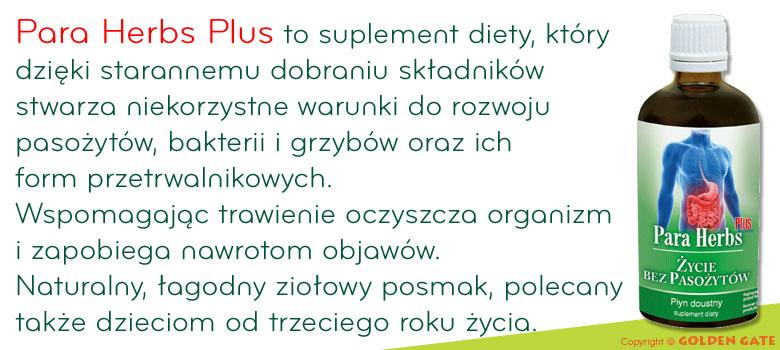 preparat na pasożyty Para Herbs Plus życie bez pasożytów naturalne odrobaczanie