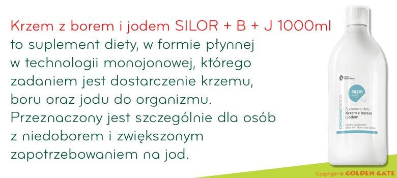 Krzem z borem i jodem SILOR + B + J 1000ml w płynie monojonowy