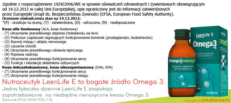 Kwasy omega 3 + 6 LeenLife E