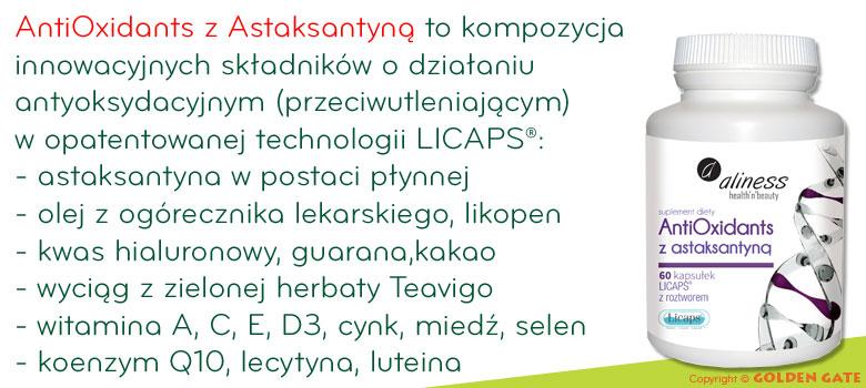 Astaksantyna, koenzym q10, kwas hialuronowy, witamina d3