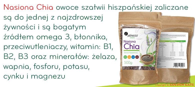 Nasiona Chia źródło omega 3, witamin, minerałów