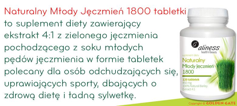 Naturalny Młody Jęczmień 1800 tabletki
