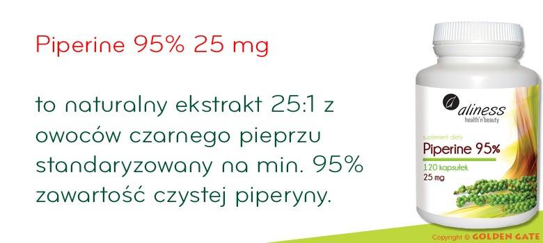 Piperine 95% 25mg piperyny ekstrakt z owoców czarnego pieprzu