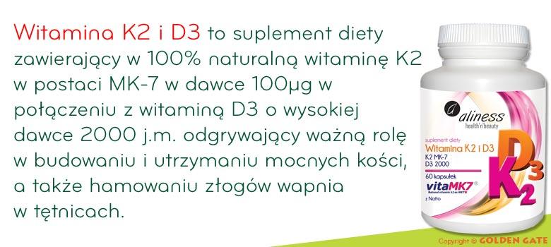 Witamina K2 MK-7 100 µg z Natto + Witamina D3 - VitaMK7 dla mocnych kości
