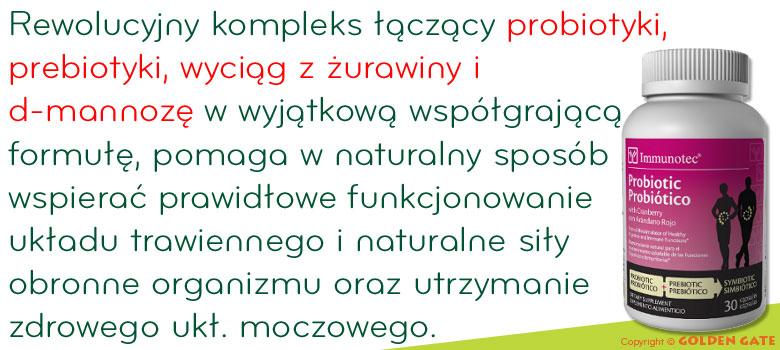 Probiotyki prebiotyki z żurawiną