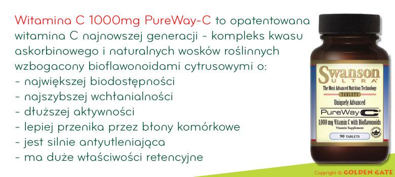 Witamian C 1000mg PureWay-C bioflawonoidy cytrusowe