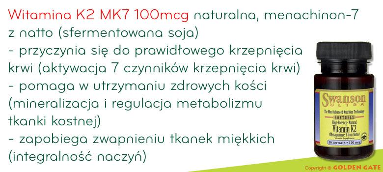 Witamina K2 MK7 naturalna swanson