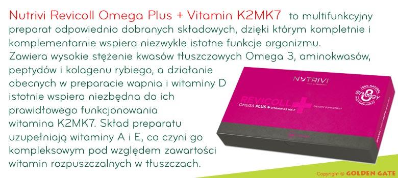 Nutrivi Revicoll Omega Plus K2MK7 omega 3 naturalny kolagen witamina A E D K2MK7