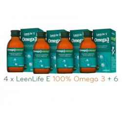 Kwasy Omega 3 LeenLife E 120ml - Zestaw 4szt.