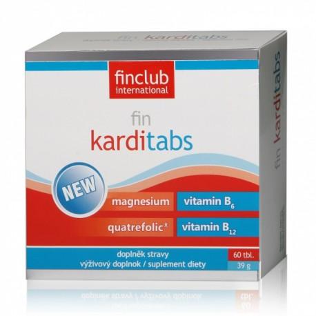 fin Karditabs - magnez, witamina B6, witamina B12, kwas foliowy folian