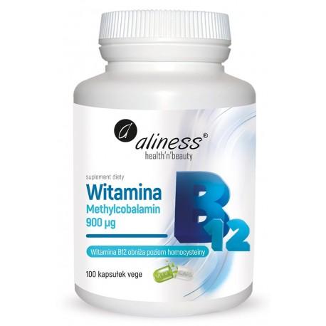 Witamina B12 Metylokobalamina 900µg 100 kapsułek VEGE