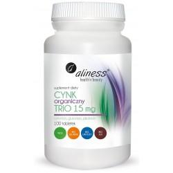 Cynk Organiczny Trio 15 mg x 100 tabl.