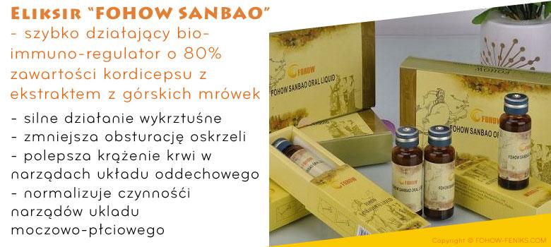 Fohow Sanbao Oral Luquid eliksir trzy klejnoty feniks