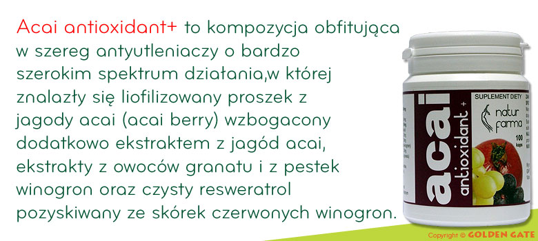 jagody Acai antioxidant resweratrol