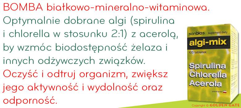 algi-mix spirulina, chlorella, acerola