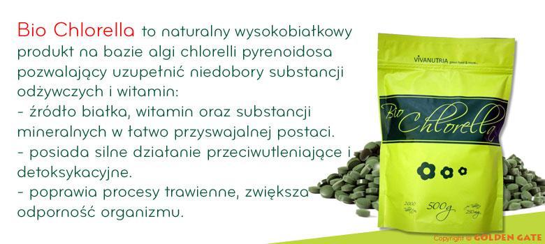 Bio chlorella tabletki źródło białka witamin minerałów