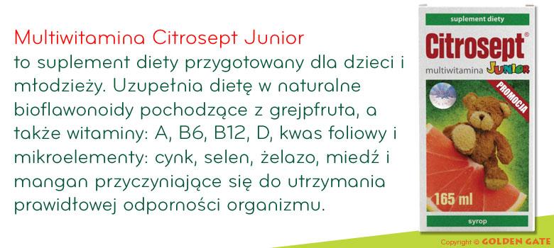 Multiwitamina Citrosept Junior minerały
