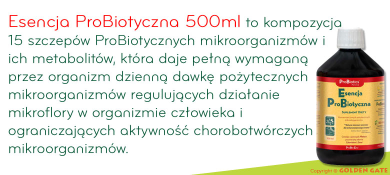 Esencja ProBiotyczna 500ml pożyteczne i efektywne mikroorganizmy probio emy