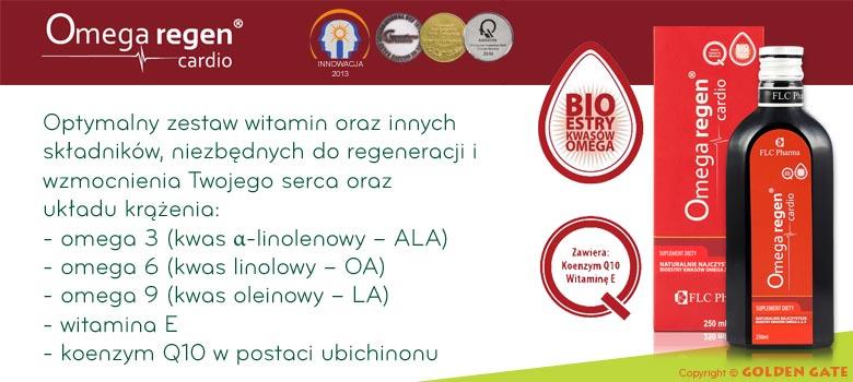 Omegaregen Cardio omega 3+6 estry z lnu Koenzym Q10