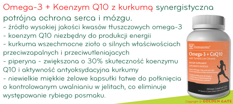 Koenzym Q10 omega-3 z kurkumą