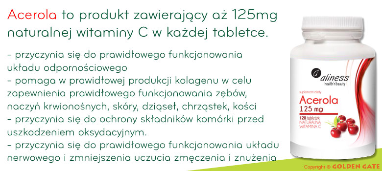 Witamina C naturalna Acerola - owoc aceroli