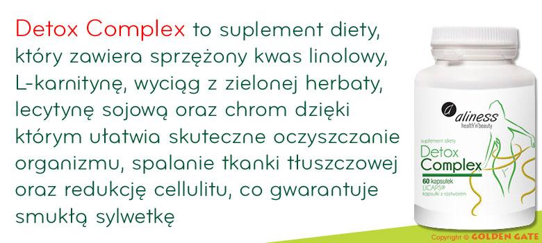 Detox Complex kwas linolowy l-karnityna zielona herbata