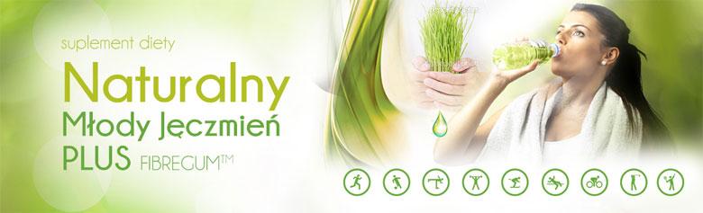 Naturalny Młody Jęczmień PLUS zielony jęczmień i fibregum