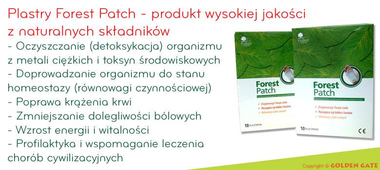 plastry oczyszczające Forest Patch - plastry DETOX