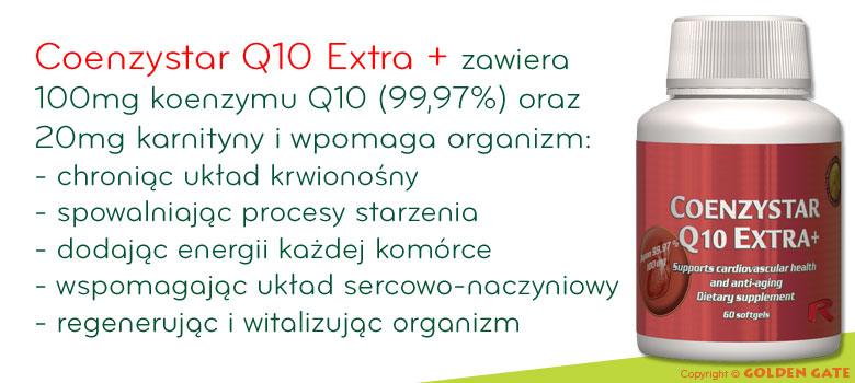 Koenzym Q10 karnityna Coenzystar q10 extra +