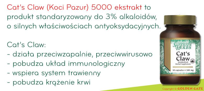 Cat's Claw Koci Pazur 5000 ekstrakt 30 kapsułek