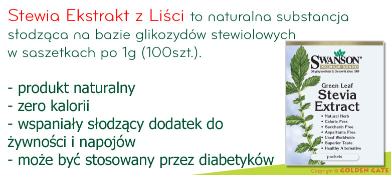 Stewia Słodzik w Proszku 100 szaszetek po 1g