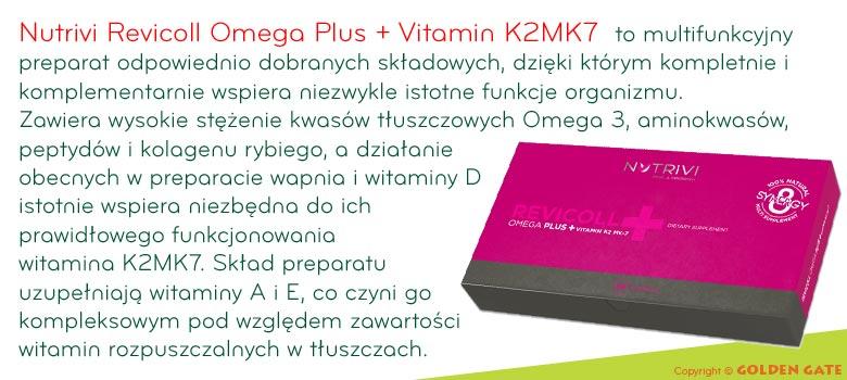 Nutrivi Revicoll Omega Plus omega 3 naturalny kolagen witamina A E D